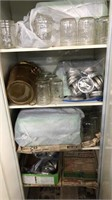 White Cabinet And Contents