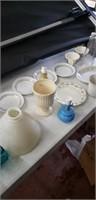 7 Boxes Of Misc Glassware & Toys ( Bottom Shelf)