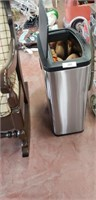 Trash Can And Contents