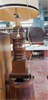 Lamp And Butter Churn