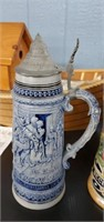 Box Of Assorted  Dishes & Steins