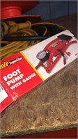 Lot of extension cords - shop lights - empty tool