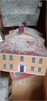 3 Boxes Of Paper Christmas  Houses, Decorations
