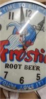Vintage  Wall Frostie Root Beer Clock
