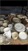 Shelf Of Miscellaneous Glassware