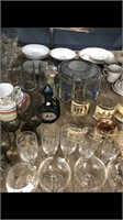 Shelf Of Miscellaneous Cups And Glasses