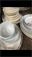 Shelf Of Miscellaneous Plates & Cookie Jars