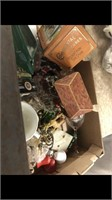Lantern, Tins,cookie Jar & Misc