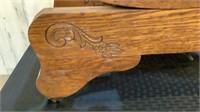 Antique Solid Oak Platform Rocking Chair-