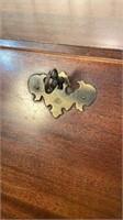 Antique Drop Front Serpentine Desk-