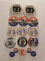 Political Buttons and more Online Only