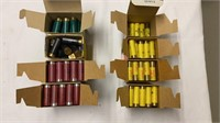 Lot of partial boxes of 12 and 20 gauge ammo.