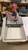 MK 470 wet saw with basin