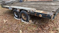 Shop built goose neck TA trailer with 6.5'x15'