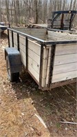 5'x8' single axle tilting utility trailer with