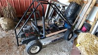 Singl seater go cart with Enduro OHV motor. Seat