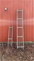 Lot of 2 roller conveyor sections