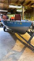 Blue Fin 14' aluminum V bottom fishing  with