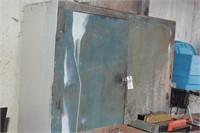 Wood Cabinet  - 4 Shelf w/ Hasp
