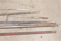 long chisels, stakes etc