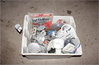 Tote of Electrical Supplies