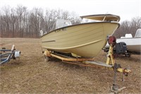 Starcraft 16' Aluminum Boat 1w/Outriggers
