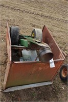 Small Lawn Cart with Metal Trailer Sides - DIY Kit