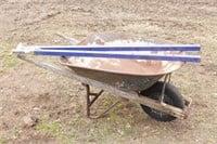 Steel Wheel Barrow w/ Steel Replacement Handles