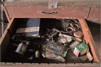 22 Drawer Wood Cabinet & Contents - Plumbing, Etc