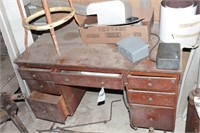 Childs Wood Office Desk & Stool
