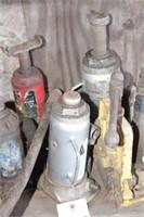 6pcs - bottle jacks, pipe vice & automotive jack