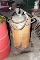 Large Rolling grease/oil dispenser