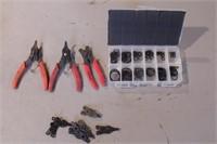 3pc Snap Ring Pliers & External Retaining Ring Kit