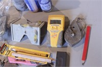 20pc Carpentry Tools- Chalk Lines, Squares, Etc