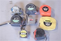 8pc Tape Measures