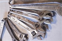 "9pc Adjustable Wrenches - 6"" - 12"""