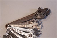 "10pc Adjustable Wrenches - 6"" - 12"""