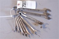 9pc Craftsman 12pt SAE Combo Wrenches