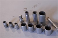 "13pc SK 1/2"" Drive SAE Sockets & Extensions"