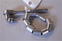"12pc Craftsman 3/8"" dr 12pt Metric Sockets/Ratchet"
