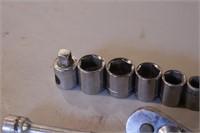 """13pc Craftsman 3/8"""" Dr 6pt SAE Sockets/Ratchets"""