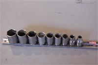 """9pc Craftsman 3/8"""" dr SAE 6pt Sockets"""
