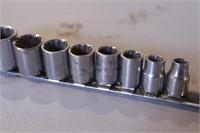 """9pc Craftsman 3/8"""" dr SAE 12pt Sockets"""