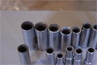 """18pc Craftsman 3/8""""dr SAE12pt Deep Sockets/Ratchet"""