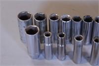 """21pc Craftsman 3/8""""dr SAE 6pt Deep Sockets/Ratchet"""