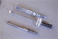 3pc Snap On, Craftsman & Utica Torque Wrenches