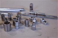 "29pc Craftsman 1/4"" Dr Ratchet, Breaker & Sockets"