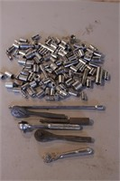 """100+pc Mixed 1/4"""" Dr Sockets, Ratchets, Extensions"""
