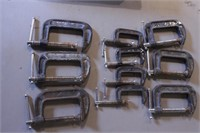 """10pc 2"""" & 3"""" C-Clamps"""