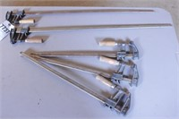 "5pc Pittsburgh Carpentry Bar Clamps - 18"" & 30"""